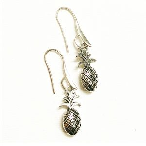 Silver Fashion Pineapple Shaped Earrings